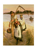 Travelling Harvesters Giclee Print by Henry Herbert La Thangue