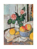 Roses and Fruit Giclee Print by George Leslie Hunter