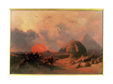 Recollection of the Desert on the Approach of the Simoon Giclee Print by David Roberts