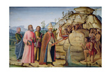 St. Clement Striking the Rock Below the Holy Lamb Giclee Print by Bernardino Fungai