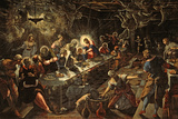 The Last Supper, 1594 Giclée-tryk af Jacopo Robusti Tintoretto