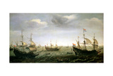 Houtman's Fleet Giclée-Druck von Cornelis Verbeeck