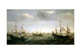 Houtman's Fleet Giclee Print by Cornelis Verbeeck