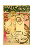 Poster Advertising the 'Salon Des Cent' Mucha Exhibition, 1897 Giclee Print by Alphonse Marie Mucha