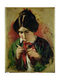 Study for the Crochet Worker, Miss Mary Ann Purdon Giclee Print by William Etty