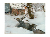 Winter on the Isle of Stord, 1889 Giclee Print by Fritz Thaulow