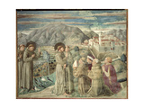 St. Francis Preaching to the Birds and Blessing Montefalco, 1452 Giclee Print by Benozzo di Lese di Sandro Gozzoli