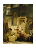 A Picture Gallery Giclee Print by Sir Lawrence Alma-Tadema