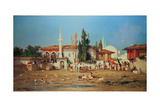 Arabs Marching Out of Town Giclee Print by Charles Emile De Tournemine