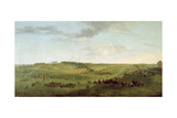 A View of Knowsley Racecourse from Riding Hill Giclee Print by Peter Tillemans