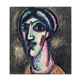 Head in Black and Green Giclee Print by Alexej Von Jawlensky