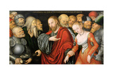 Christ and the Woman Taken in Adultery Giclee Print by Lucas Cranach the Younger