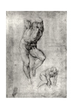 Study of Two Male Nudes Giclee Print by  Michelangelo Buonarroti