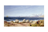 Piraeus, the Tomb of Thermistocles and Ruined Monuments Looking Towards the Island of Salermis Giclee Print by John Rogers Herbert