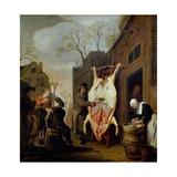 The Butcher's Shop Giclée-Druck von Jan Victors