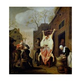 The Butcher's Shop Giclee Print by Jan Victors
