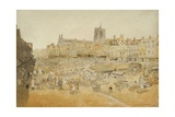 The Market Place, Norwich, Taken from Mr Cooper's, 1807 Giclee Print by John Sell Cotman