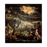 The Fall of Manna Giclee Print by Jacopo Robusti Tintoretto