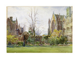 Radcliffe Quad, University College, Oxford Giclee Print by William Matthison