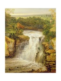 The Falls of the Clyde after a Flood, 1852 Giclee Print by James Ward