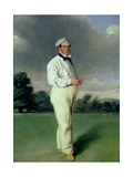 Alfred Mynn (1807-61) Cricketer, c.1850 Giclee Print by William III Bromley