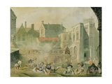 The King's Bath, Bath, 1800 Gicleetryck av John Nixon