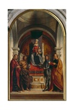 Enthroned Virgin and Four Saints Giclee Print by Boccaccio Boccaccino