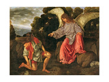 Tobias and the Angel, c.1530 Giclee Print by Giovanni Girolamo Savoldo
