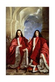 The Holy Spirit Above a Portrait of Two Lawyers Giclee Print by Sebastiano Bombelli