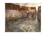 The Bridge at Antwerp (Or Oudenard), 1902 Giclee Print by Fritz Thaulow