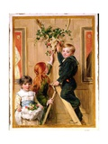 Decorating with Holly, 1881 Giclee Print by John Callcott Horsley