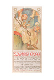 Poster for the Exhibition of the Slav Epic, 1928 Giclee Print by Alphonse Mucha