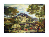 Meeting of David and Abigail Giclee Print by  Domenichino