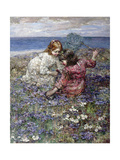 After the Butterfly Chase, 1911 Giclee Print by Edward Atkinson Hornel