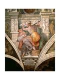 Sistine Chapel Ceiling: Libyan Sibyl, c.1508-10 Giclee Print by  Michelangelo Buonarroti