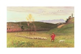 The Arcadian Shepherd and His Flock, 1883 Giclee Print by Matthew Ridley Corbet