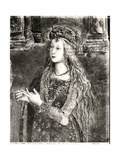 St. Catherine, Possibly a Portrait of Lucrezia Borgia (1480-1519) from the Lives of the Saints Giclee Print by Bernardino di Betto Pinturicchio