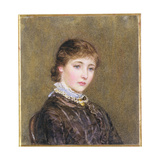 Portrait of a Young Girl Giclee Print by Helen Allingham