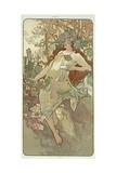The Seasons: Autumn, 1896 Giclee Print by Alphonse Mucha