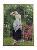 The Rose Bower, 1877 Giclee Print by Edward Killingworth Johnson