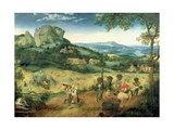 Haymaking, Possibly the Months of June and July, 1565 Giclee Print by Pieter Bruegel the Elder