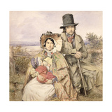'The Emigrants': A Family Seated at a Roadside, 1840 Giclee Print by Octavius Oakley