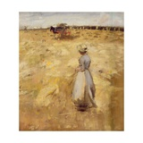 Field Workers in the Lothian, 1883 Giclee Print by Sir James Guthrie