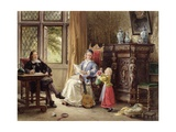 Elizabethan Interior Giclee Print by Louis Haghe