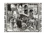 Entry of Christ into Jerusalem Giclée-tryk af Pietro Lorenzetti