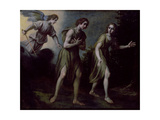 The Expulsion of Adam and Eve from Paradise Giclee Print by Francesco Curradi