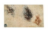 Study of Men Fighting, 1503-4 Giclee Print by Leonardo Da Vinci