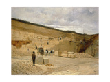 Monsieur Pascal's Quarry Near Nanterre Giclee Print by  Jean-Charles Cazin