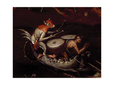 The Inferno, Detail of Fantastical Animals Playing the Drums on a Boat Giclee Print by Herri Met De Bles