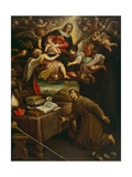 Apparition of the Virgin to Saint Bonaventure Giclee Print by Leandro Da Ponte Bassano